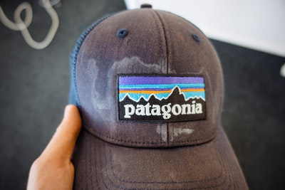 Sweat marks on my Patagonia cap