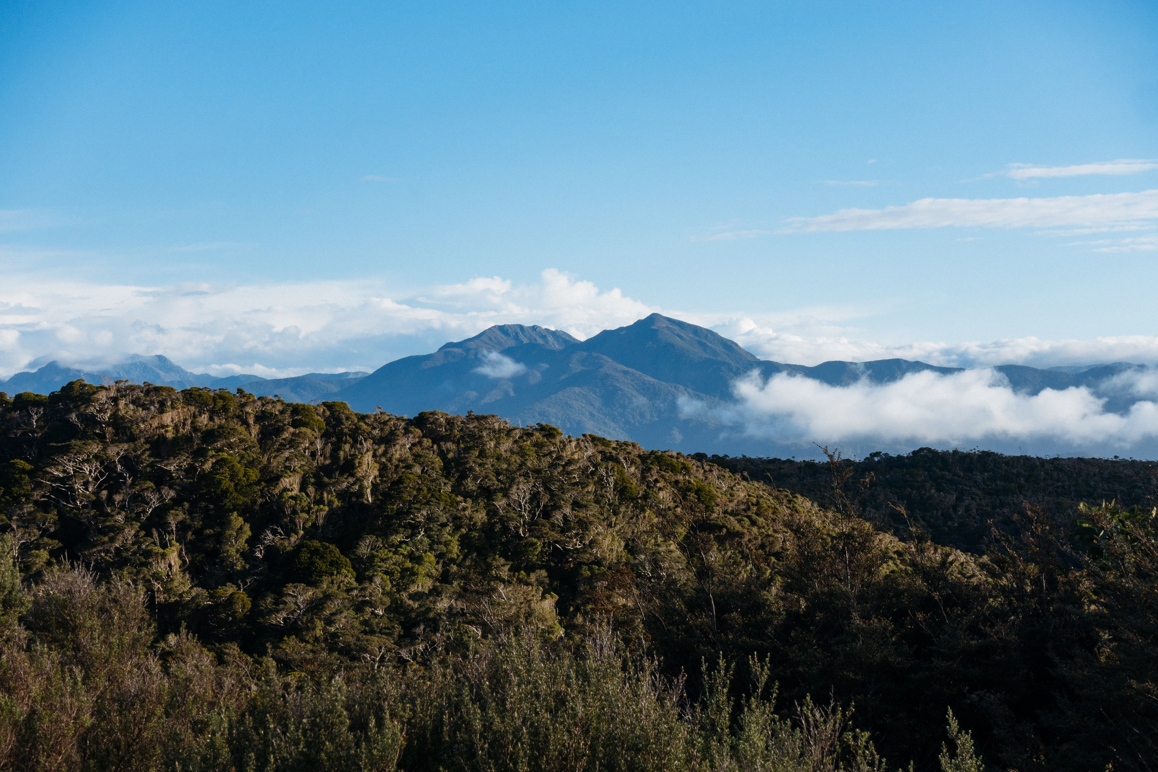 A view over the ranges from James Mackay Hut