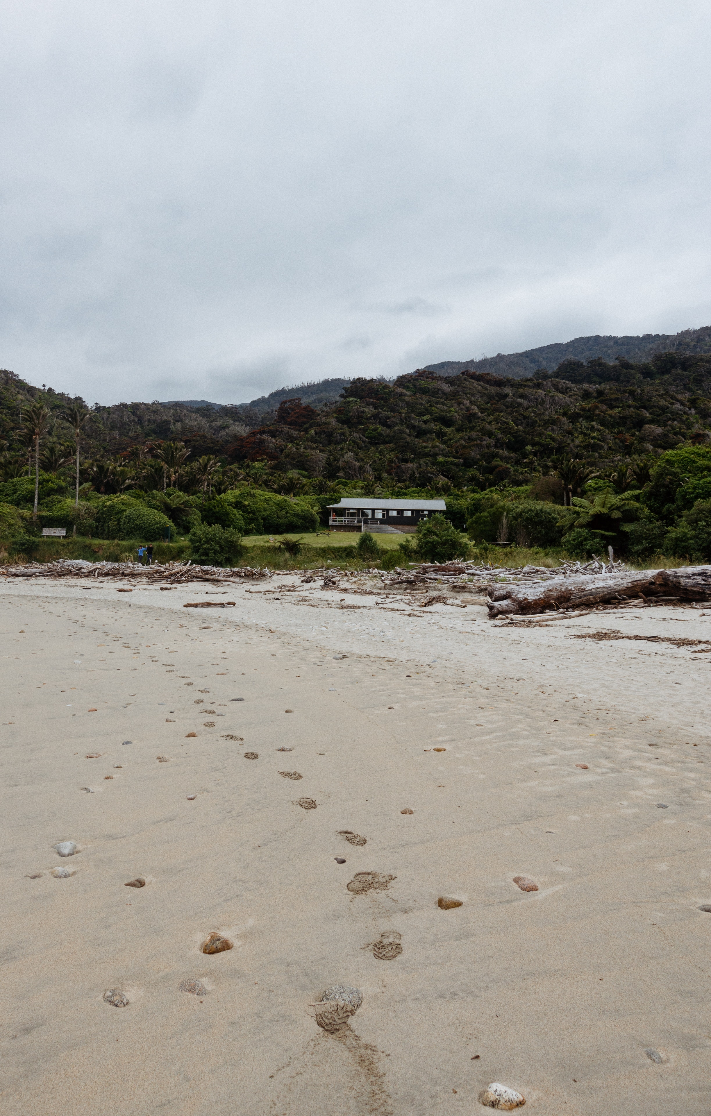 Heaphy Beach on an overcast afternoon