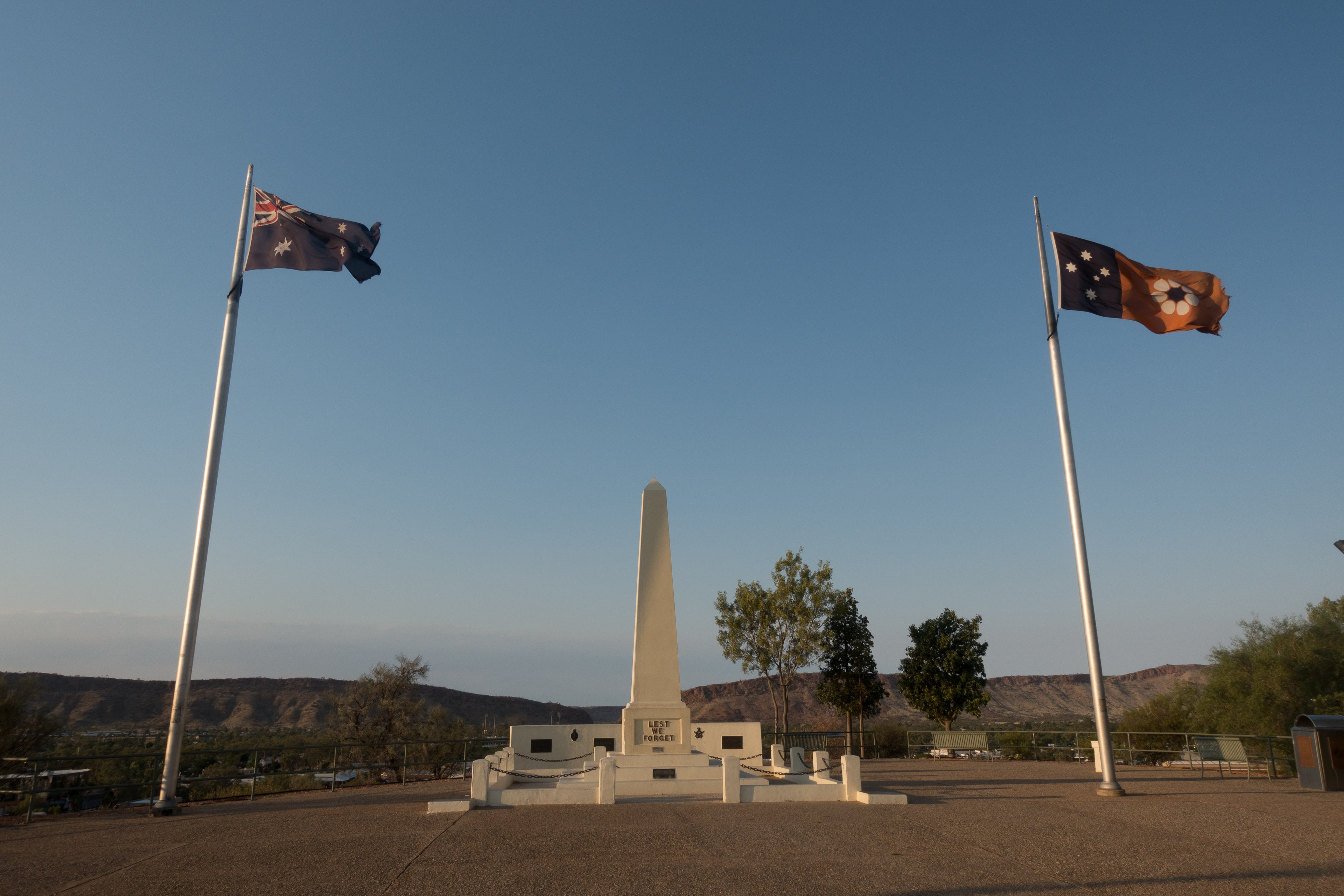 Monument at the top of Anzac Hill