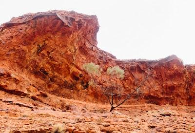 Giant overhang at Kings Canyon