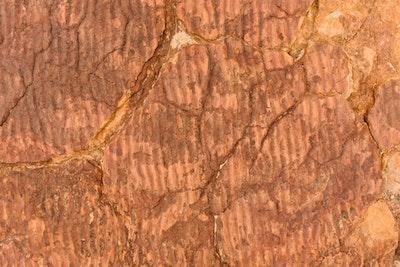 Water marks on ancient rocks at Kings Canyon