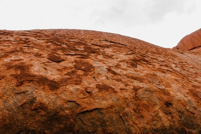 Weathered surface of Uluru