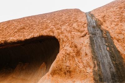 Licen waterfall on the side of Uluru