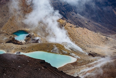 The lakes in the crater