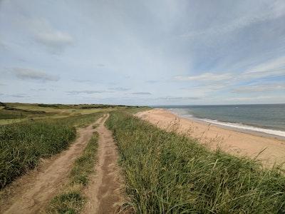 A view down the Fife Coastal Path