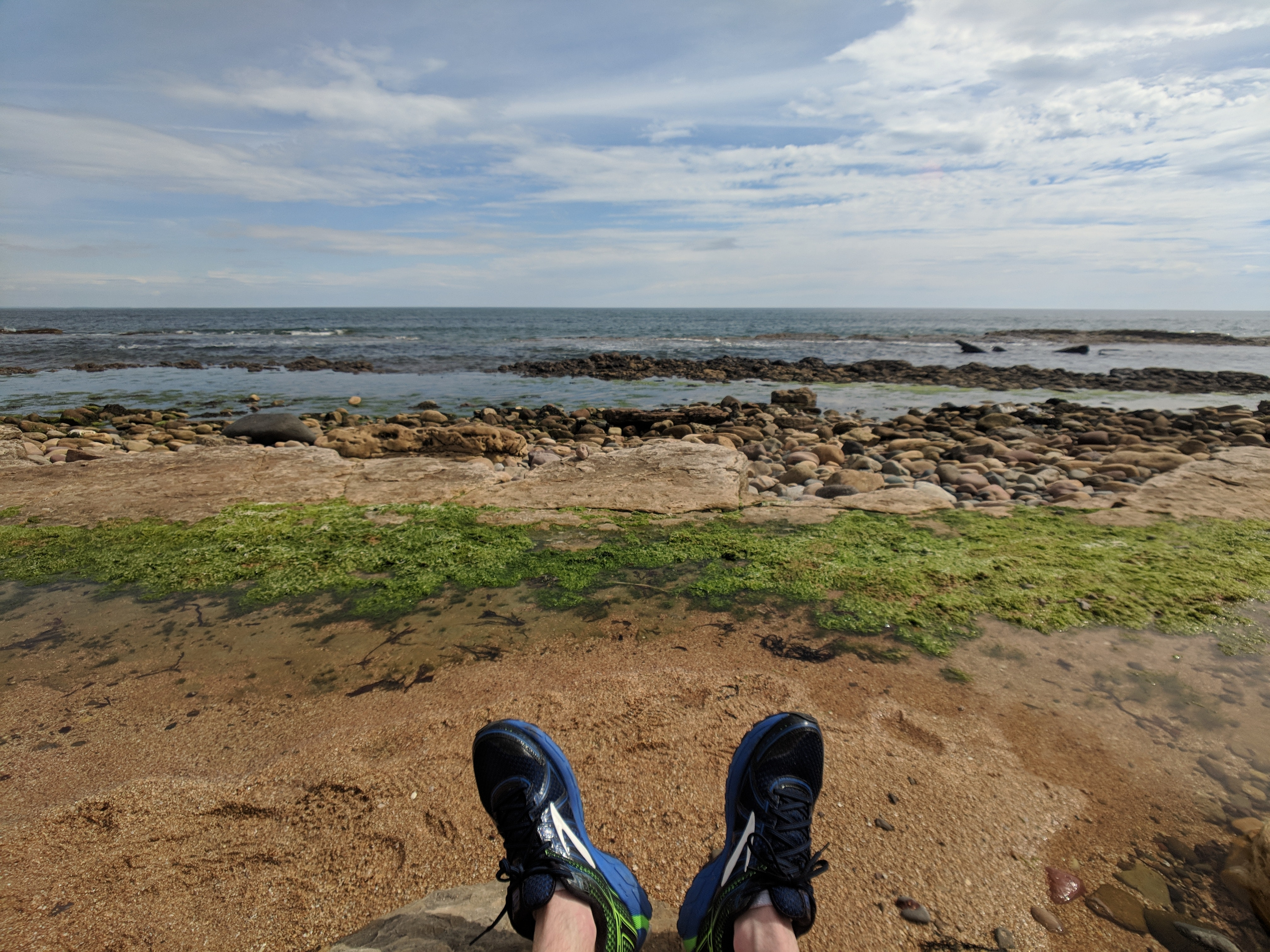 The sea and my running shoes