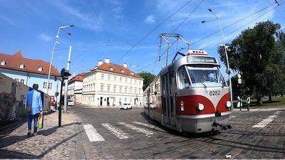 A Prague tram