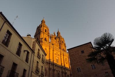 Salamanca Catholic Church at Sunrise