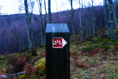 A signpost points the way to Craigellachie Summit