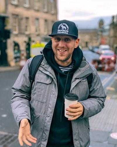 Photo of a friend in Edinburgh