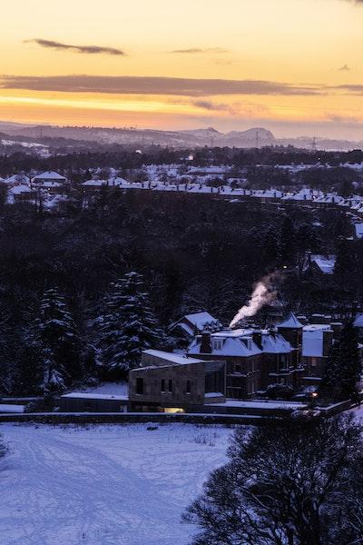 Golden Hour recedes over Edinburgh