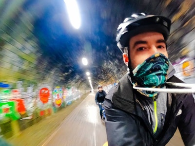 Cycling in the Innocent Railway Tunnel