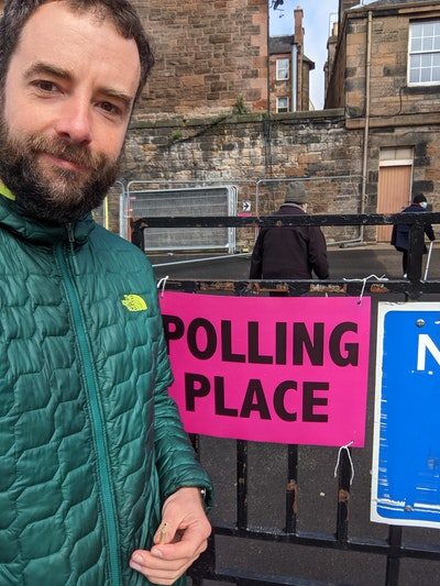 Me, at the polling station